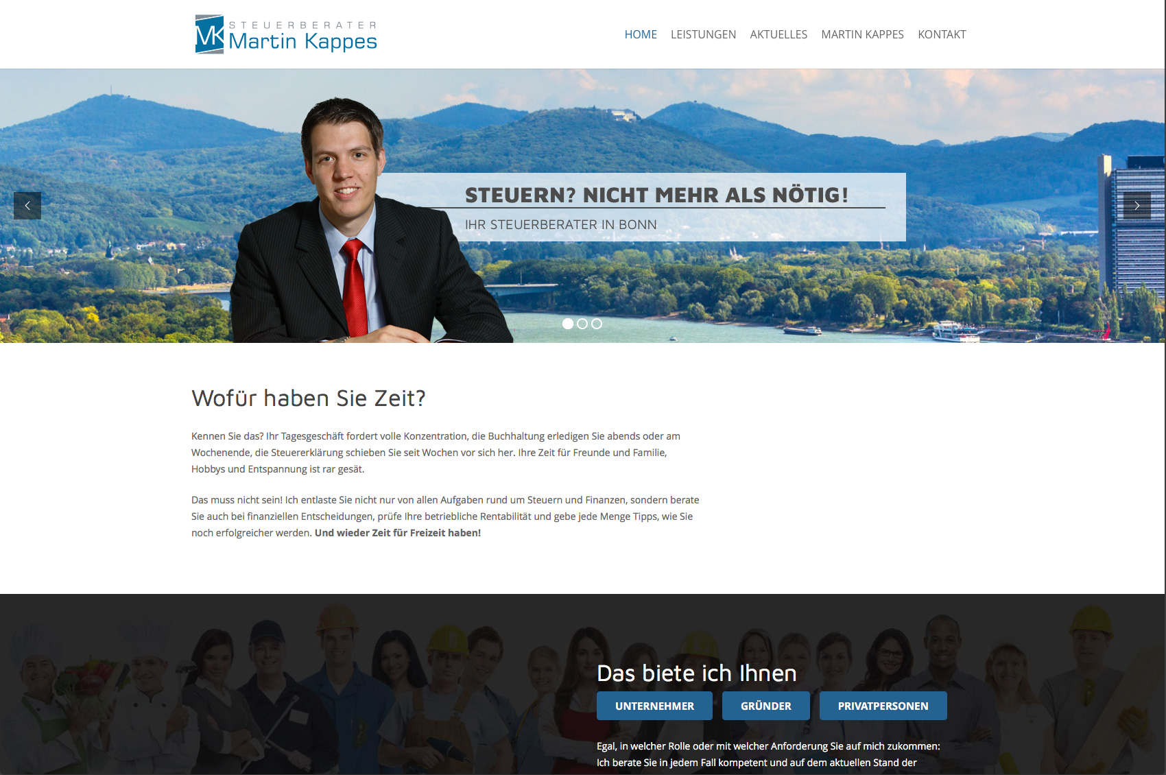Website Steuerberater Martin Kappes, Bonn