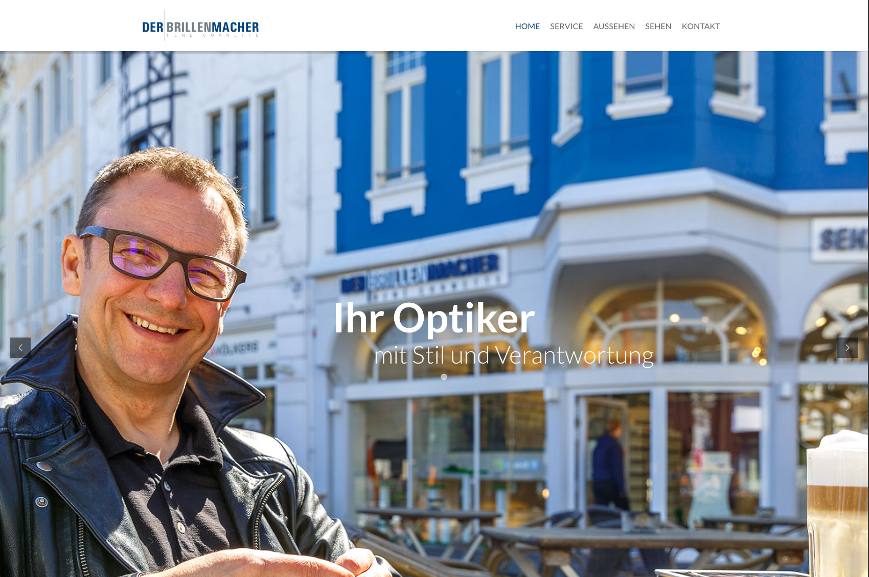 Website Der Brillenmacher, Optiker in Bonn