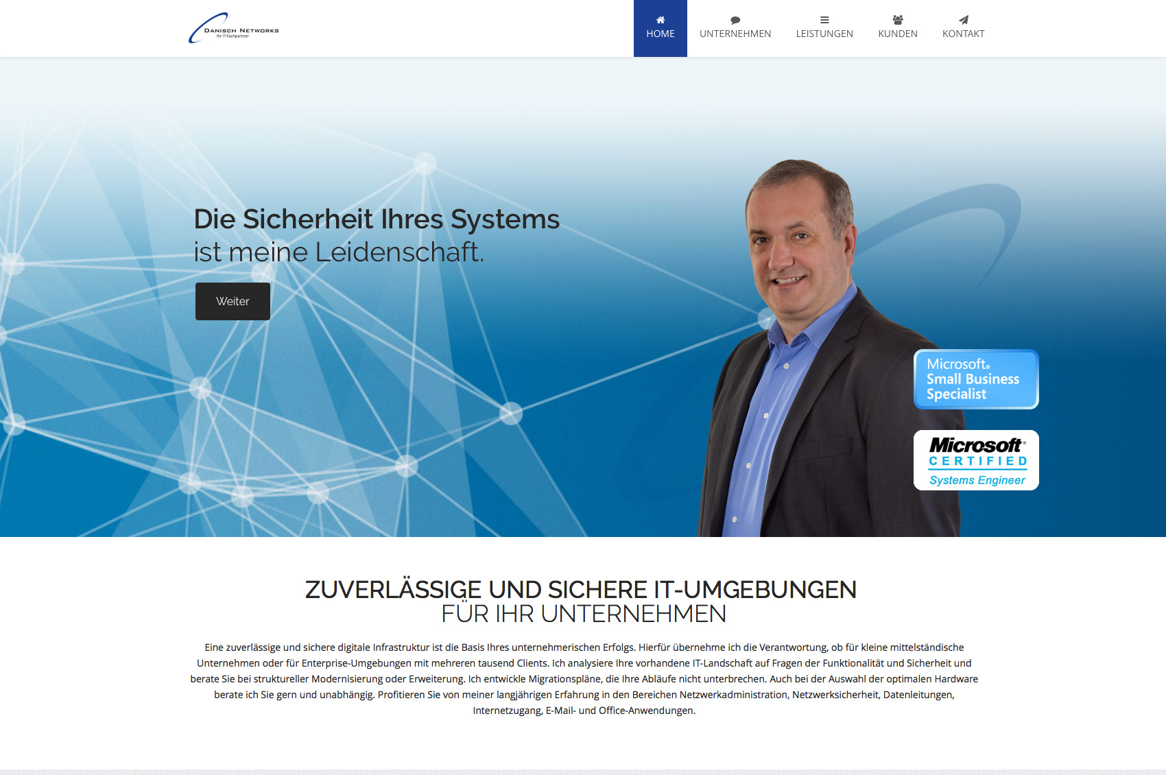 Website IT-Administrator Nikolaus Danisch, Bonn